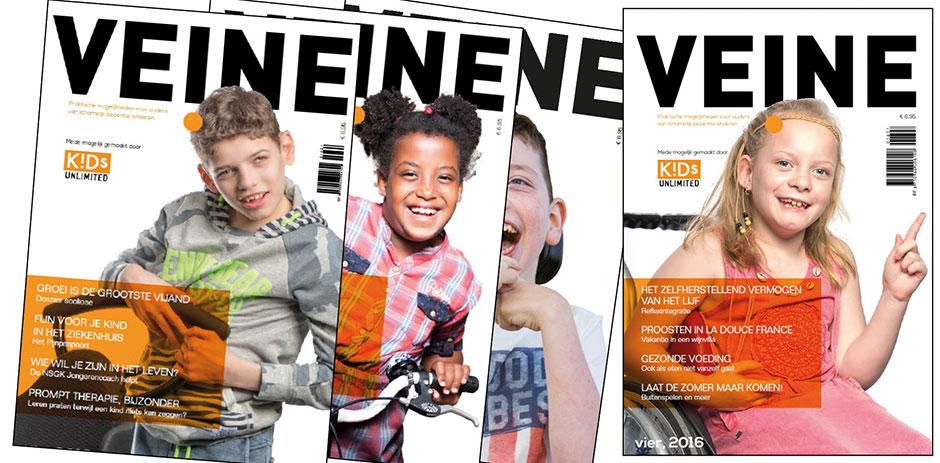 Vaste column in tijdschrift Veine
